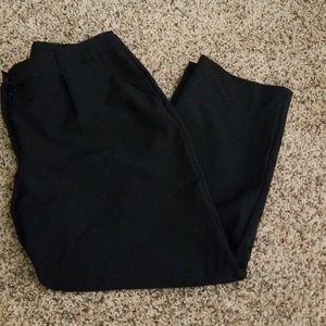 Womens black crop pants
